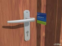 open a locked door with credit card