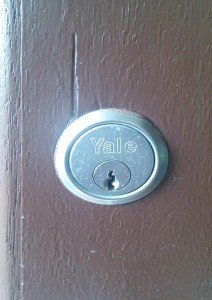 Non destructive entry to a yale lock